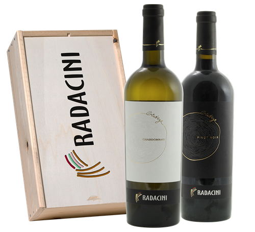 Afbeelding van Radacini Vintage Chardonnay & Pinot Noir (in geschenkkist)